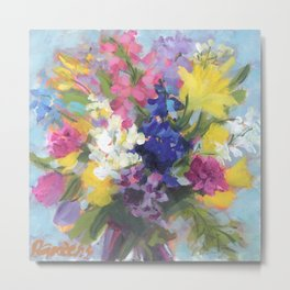 Radiant Spring Bouquet Metal Print