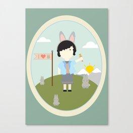 I heart bunnies Canvas Print