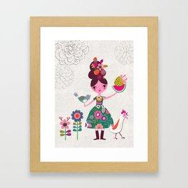 Folk Girl Framed Art Print