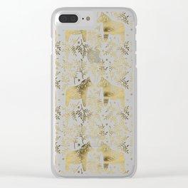 Swedish Dala Horses – Gold Palette Clear iPhone Case