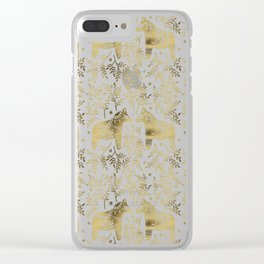 Swedish Dala Horses – Gold Palette Clear iPhone Case