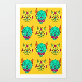 cowtigs and birdcats Art Print