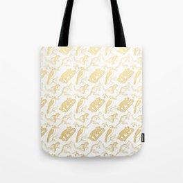 Beautiful Golden Australian Native Floral Print Tote Bag