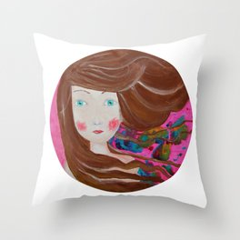 Inky Windy Throw Pillow