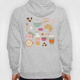 Drawing Coffee in a Café Hoody