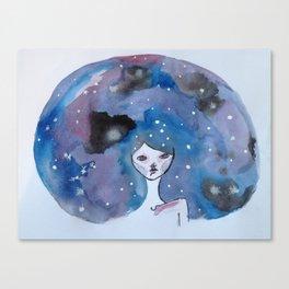 Galaxy Brain  Canvas Print