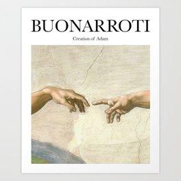 Buonarroti - Creation of Adam Art Print