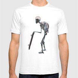 old school skateboarder or maybe just old  T-shirt