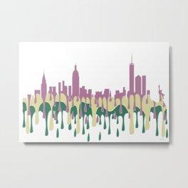 New York, New York Skyline - PCG Metal Print