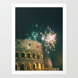 Fireworks at the Coloseo Art Print