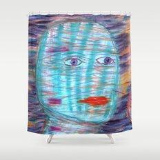 Plaid Head Shower Curtain