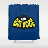 doge Shower Curtains featuring BatDoge (Shibe Doge) by Tabner's