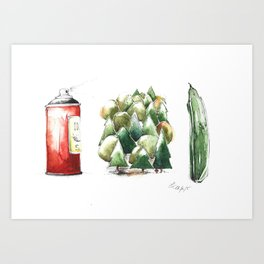 SPRAYWALDGURKE/ SPREEWALD GHERKINS Art Print