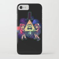 gravity falls iPhone & iPod Cases featuring Gravity Falls by Miki Draw
