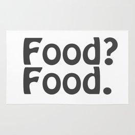 Food? Food. Rug