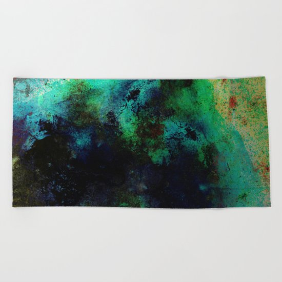 The Life In Your Veins - Abstract, acrylic, textured painting Beach Towel