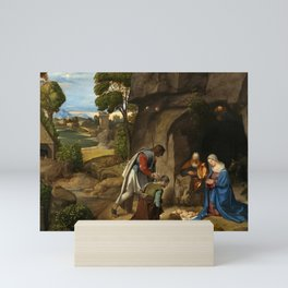 "Giorgione ""The Adoration of the Shepherds"" Mini Art Print"