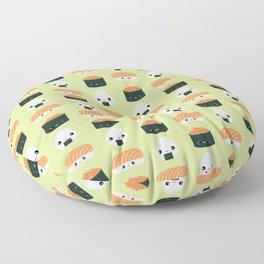 Salmon Dreams in wasabi, large Floor Pillow