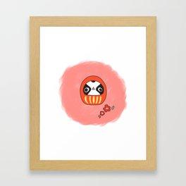 "Japanese chin Mochio ""MOCHIO DARUMA"" Framed Art Print"