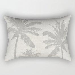 Palm Trees on Ivory Croc Pattern Rectangular Pillow