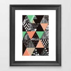GEOMETRIC - you are what you repeatedly do Framed Art Print