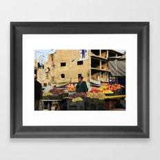 Fruit Vendor; Tripoli, Lebanon. Framed Art Print