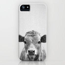 Cow 2 - Black & White iPhone Case