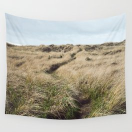 Oregon Dune Grass Adventure - Nature Photography Wall Tapestry