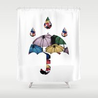 umbrella Shower Curtains featuring Umbrella by Bikfyfy
