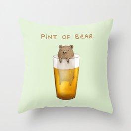 Pint of Bear Throw Pillow