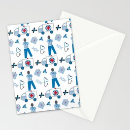 Wellness Health Medical Symbols Doctors and  Nurse Stationery Cards