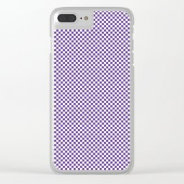 Deep Ultra Violet and White Mini Check 2018 Color Trends Clear iPhone Case