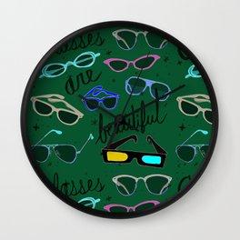 Glasses are Beautiful Wall Clock