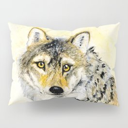 Totem Grey wolf Pillow Sham