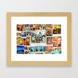 Morning Blues collage Framed Art Print