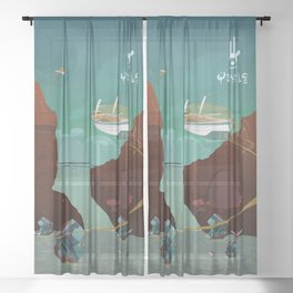 World of Tales Sheer Curtain
