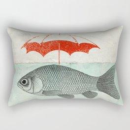 Umbrella Goldfish Rectangular Pillow