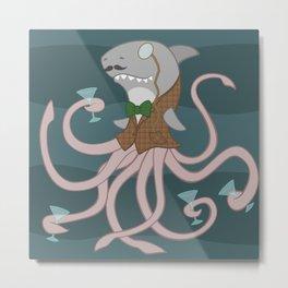 Sharktopus Metal Print