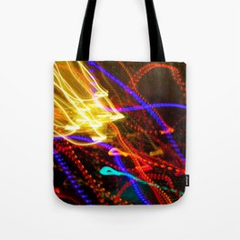 Painting with Christmas Lights - The Peace Collection Tote Bag