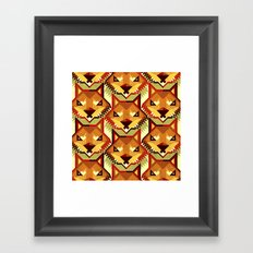 The Bold Wolf pattern Framed Art Print