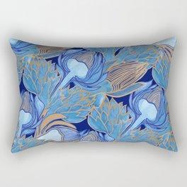 Art Nouveau Artichokes Rectangular Pillow