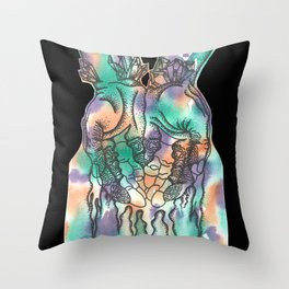 Bleeding color Throw Pillow