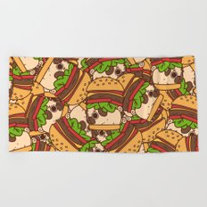 Puglie Burger Beach Towel