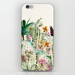 Blooming in the cactus iPhone Skin