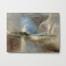 """J.M.W. Turner """"Rockets and Blue Lights (Close at Hand) to Warn Steam Boats of Shoal"""" Metal Print"""