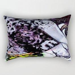 Afloat I - Mixed Media Acrylic Abstract Modern Art, 2009 Rectangular Pillow