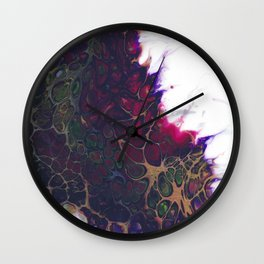 Purple Virus Wall Clock