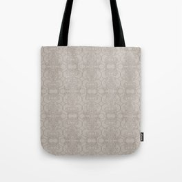 Latte Vertical Lace Tote Bag