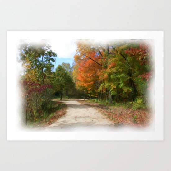The Path Oil Painting Art Print