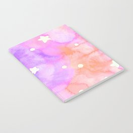 Starry Sky Raspberry Milkshake Notebook